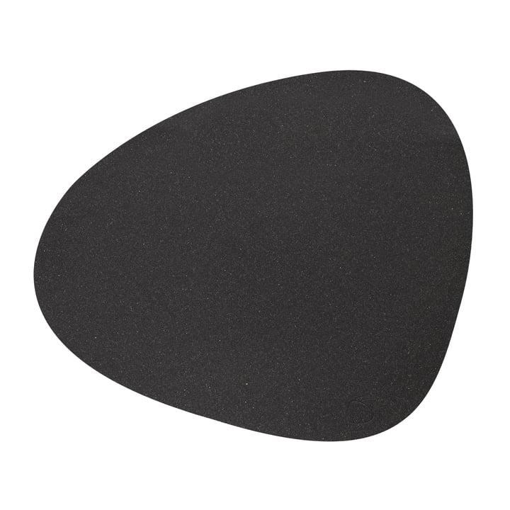 Placemat Curve L, Core mottled anthracite from LindDNA