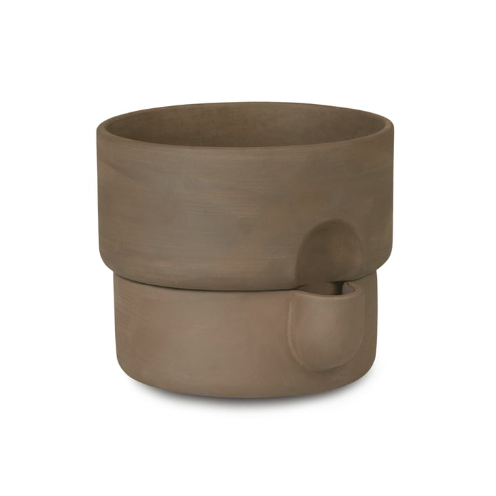 Oasis Plant pot Ø 15 x H 13 cm from Northern in color brown