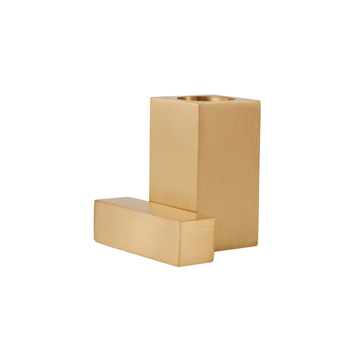 Square Candleholder from OYOY in brushed brass