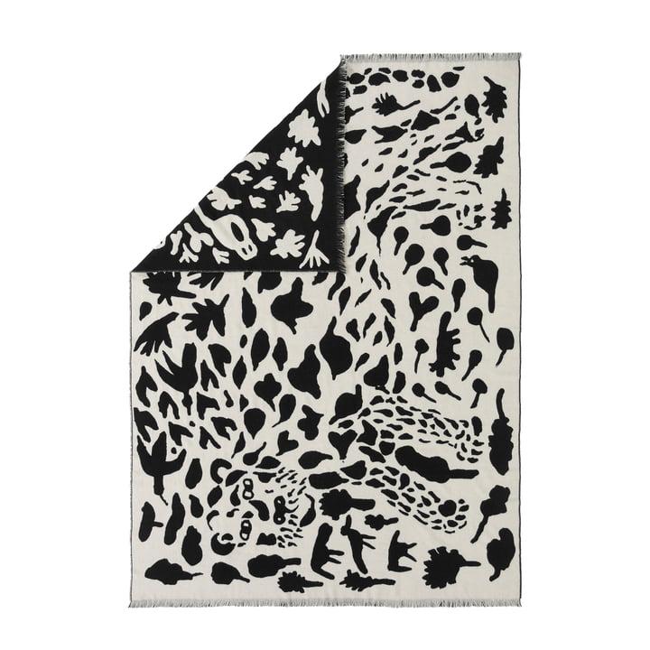Oiva Toikka Wool blanket from Iittala in Cheetah black