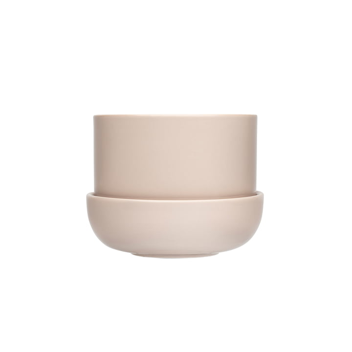 Nappula Flowerpot with saucer 170 x 130 mm from Iittala in beige