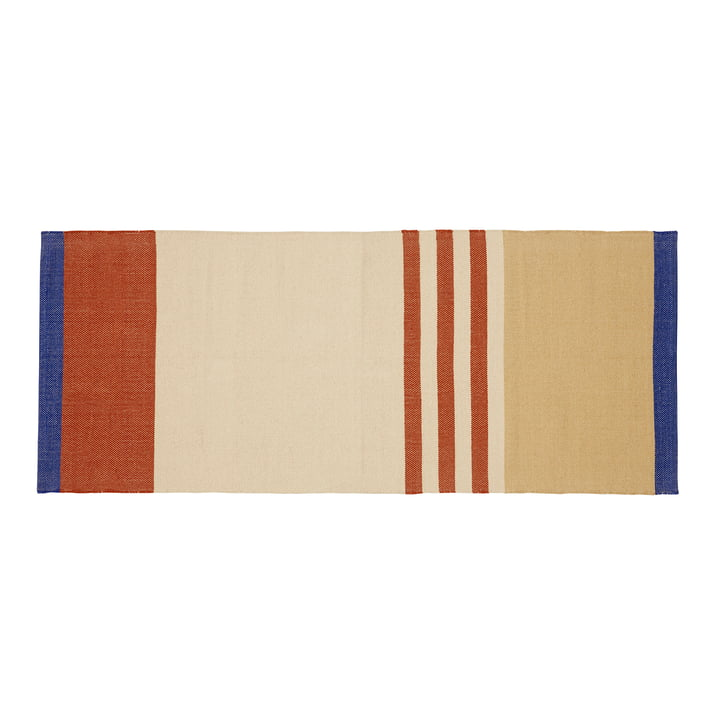 Striped carpet runner 80 x 200 cm, multicoloured from Hübsch Interior