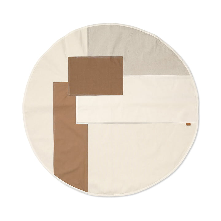 Tonal Christmas tree blanket by ferm Living in the colour natural