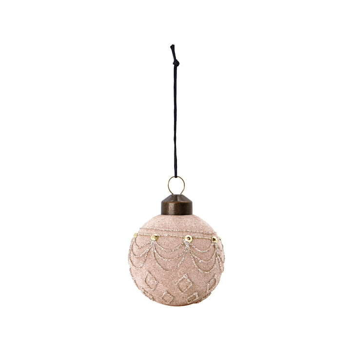 Velour Christmas tree ball from House Doctor in the color sand