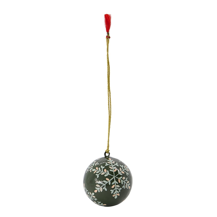 Mache Christmas tree ball from House Doctor in the color green