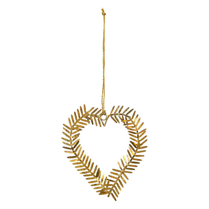Lamet Christmas tree decorations from House Doctor in the shape of a heart