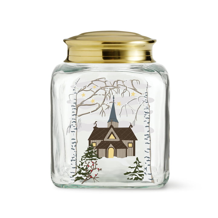 Christmas pastry jar from Holmegaard