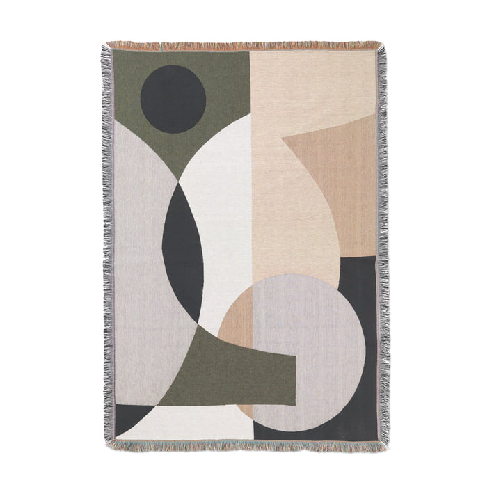 Entire Blanket from ferm Living in the design multicoloured