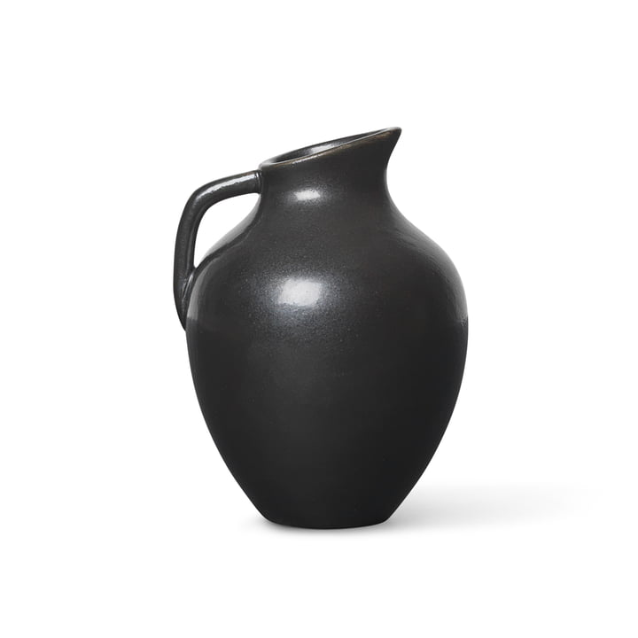 Ary Mini Vase by ferm Living in the color charcoal