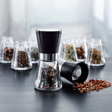 Salt and pepper shakers for refilling individually