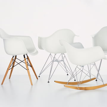 Eames Plastic Armchairs by Vitra in white