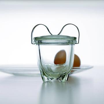 Jenaer Glas - Wagenfeld Egg Boiler No. 1 with egg