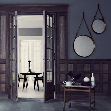 Adnet Mirror by Gubi in Various Sizes.