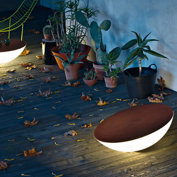 Foscarini Solar Outdoor Floor Lamp in brown