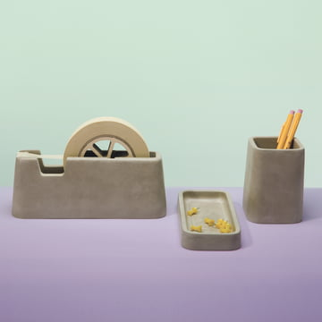 Areaware - Concrete Desk Set (3 pcs)