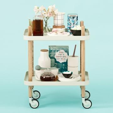 Normann Copenhagen - Block Mobile Side Table with Tea Egg