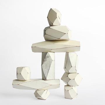 Areaware - Balancing Blocks wooden toy, white