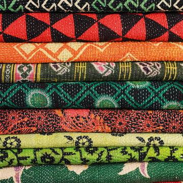Hay - Antique Quilt - details, fabrics