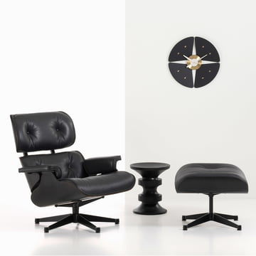 Vitra - Petal Clock, black/ brass