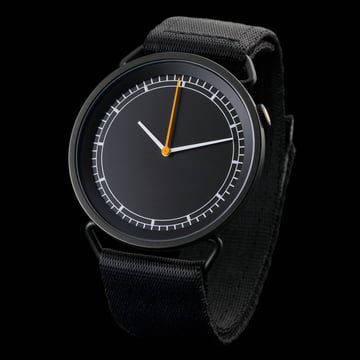 Rosendahl - MUW wristwatch, black / black