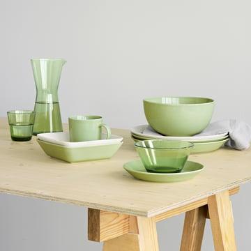 Green set table by Iittala