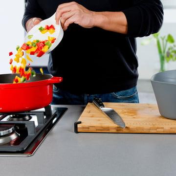 Royal VKB - Chop Organizer, white - vegetables in the pot