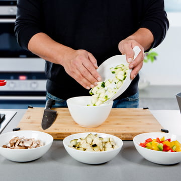 Royal VKB - Chop Organizer, white - vegetables in a bowl