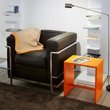 wb form - Ulmer Stool, bright orange