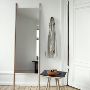 Skagerak - Georg Mirror, Stool, oak wood
