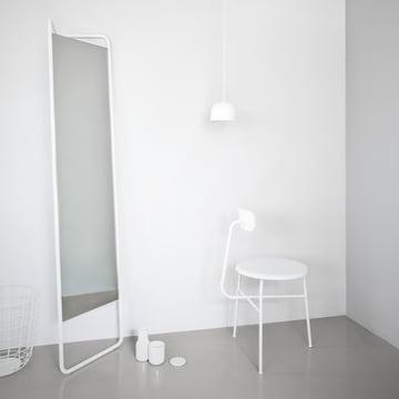 Menu - Kaschkasch floor mirror, white