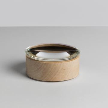 Hay - Lens Box / Lid, Ø 10, maple, glass