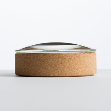 Hay - Lens Box / Lid, Ø 14, cork, glass - lateral view