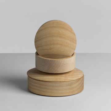 Hay - Lens Box / Lid, maple - stacked