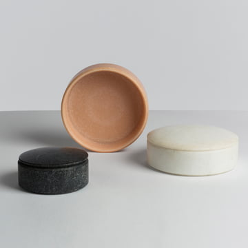 Hay - Lens Box / Lid, marble - group