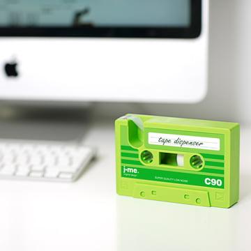 j-me - cassette tape dispenser, green
