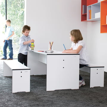 Conmoto - Riva Kids Table & Benches, Indoor with two Kids