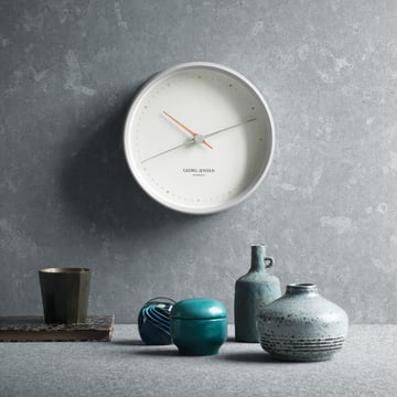 Georg Jensen - Henning Koppel Wall Clock Graphic white, ambience