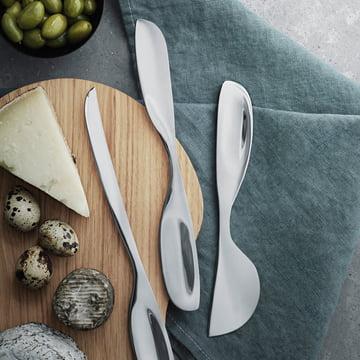 Georg Jensen - Alfredo Cheese Knife Set (3pcs.) with Cheese