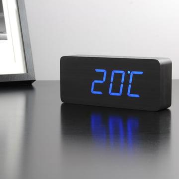Gingko - Slab, black / LED blue, temperature