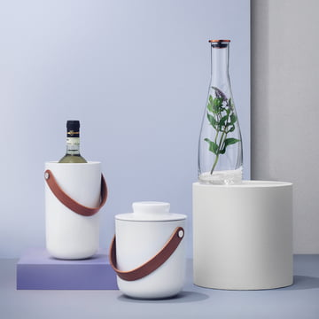 Stelton - Glacier Wine Cooler, Glacier Ice Bucket, Flow Carafe