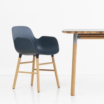 Form Armchair by Normann Copenhagen made from oak in blue