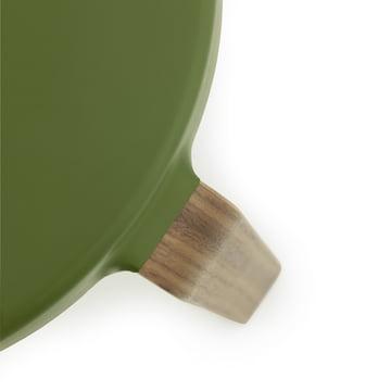 Normann Copenhagen - Tap Stool, walnut / olive green