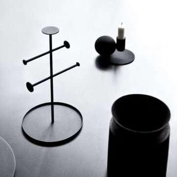 Menu - Optical Candle Holder, black
