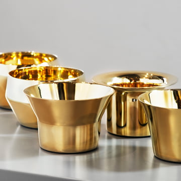 Skultuna - Kin Candleholder (set of 5 pieces) brass, close view