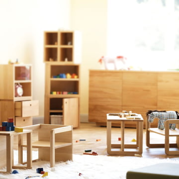 Jan Kurtz - Children´s Furniture Tim & Hugo, natural beech