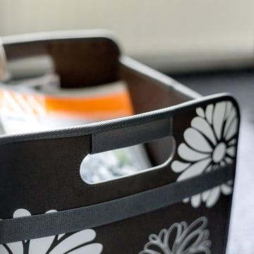 meori - Classic Folding Box 30 Litre, Lava black flowers