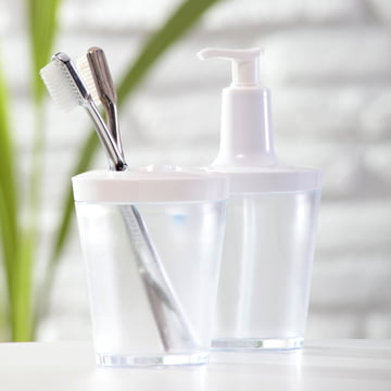 Koziol - Flow soap dispenser, transparent
