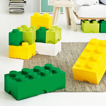 Lego - Storage Brick, yellow, green