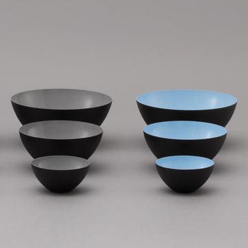 Normann Copenhagen - Krenit bowl, grey, light blue