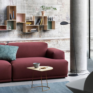 The Tiles Cushion, Shades Bowl, Leaf Lamp and the Airy Coffee Table by Muuto